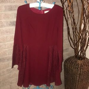 Burgundy Red Dress